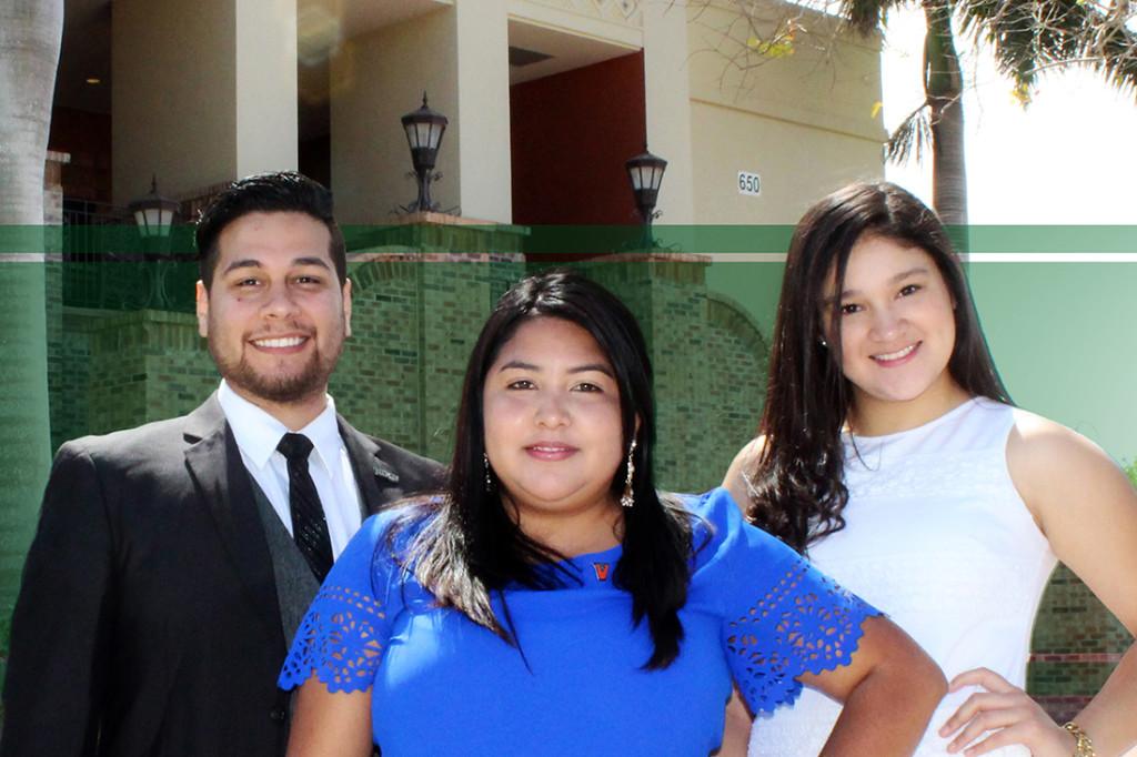 Peter Averack, Denisse Molina-Castro, Alondra Galvan COURTESY PHOTO