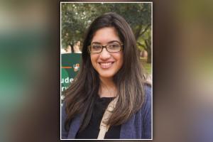 Melissa Martinez,  estudiante de último año en educación