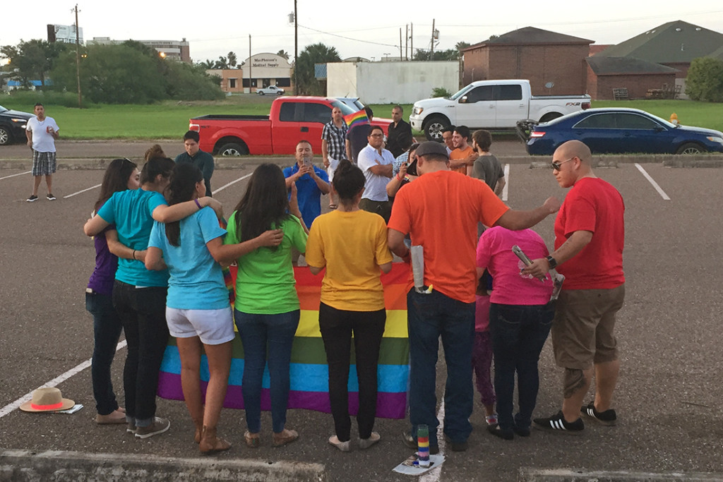 The family of Frank Escalante, the Weslaco native who was killed in the mass shooting in Orlando, Fla., attended Monday's vigil in Harlingen. MARISSA RODRIGUEZ/ THE RIDER