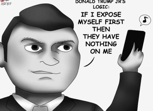 A political cartoon of Donald Trump Jr.